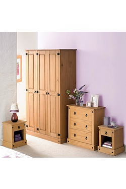 4-Piece Mexican Solid Pine Bedroom Set