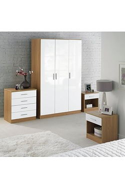 Carleton 4-Piece High-Gloss Bedroom...