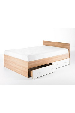 Carleton High Gloss Storage Bed