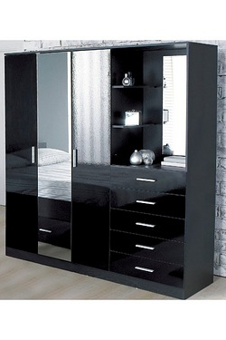 Carleton High Gloss Mirrored Combi Unit