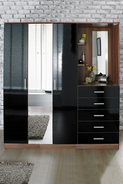 Carleton High Gloss Mirrored Combi ...