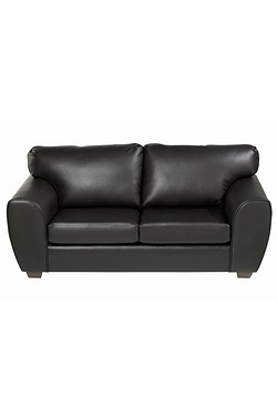 Jodie Faux Leather Traditional Sofa...