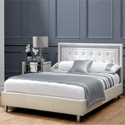 Crystalle Faux Leather Bed - With M...