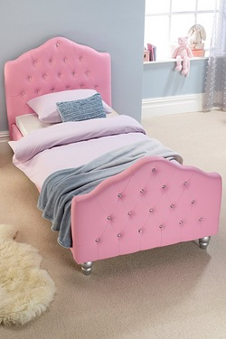 Millie Pink Diamante Bed