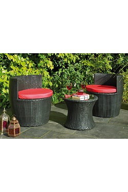 3-Piece Rattan-Effect Hideaway Vase Set
