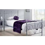 Sienna Crystal Finial Metal Bed - W...