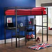 Study Bunk With Desk And Shelves - ...