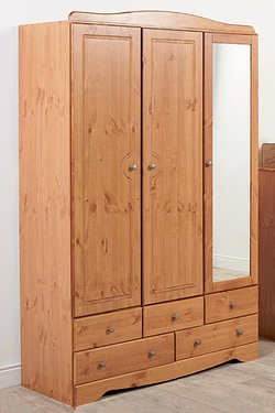 Milford 3 Door 5 Drawer Mirrored Wa...