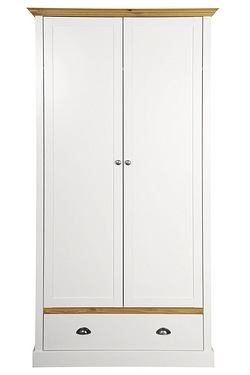 Sandringham 2 Door 1 Drawer Wardrobe