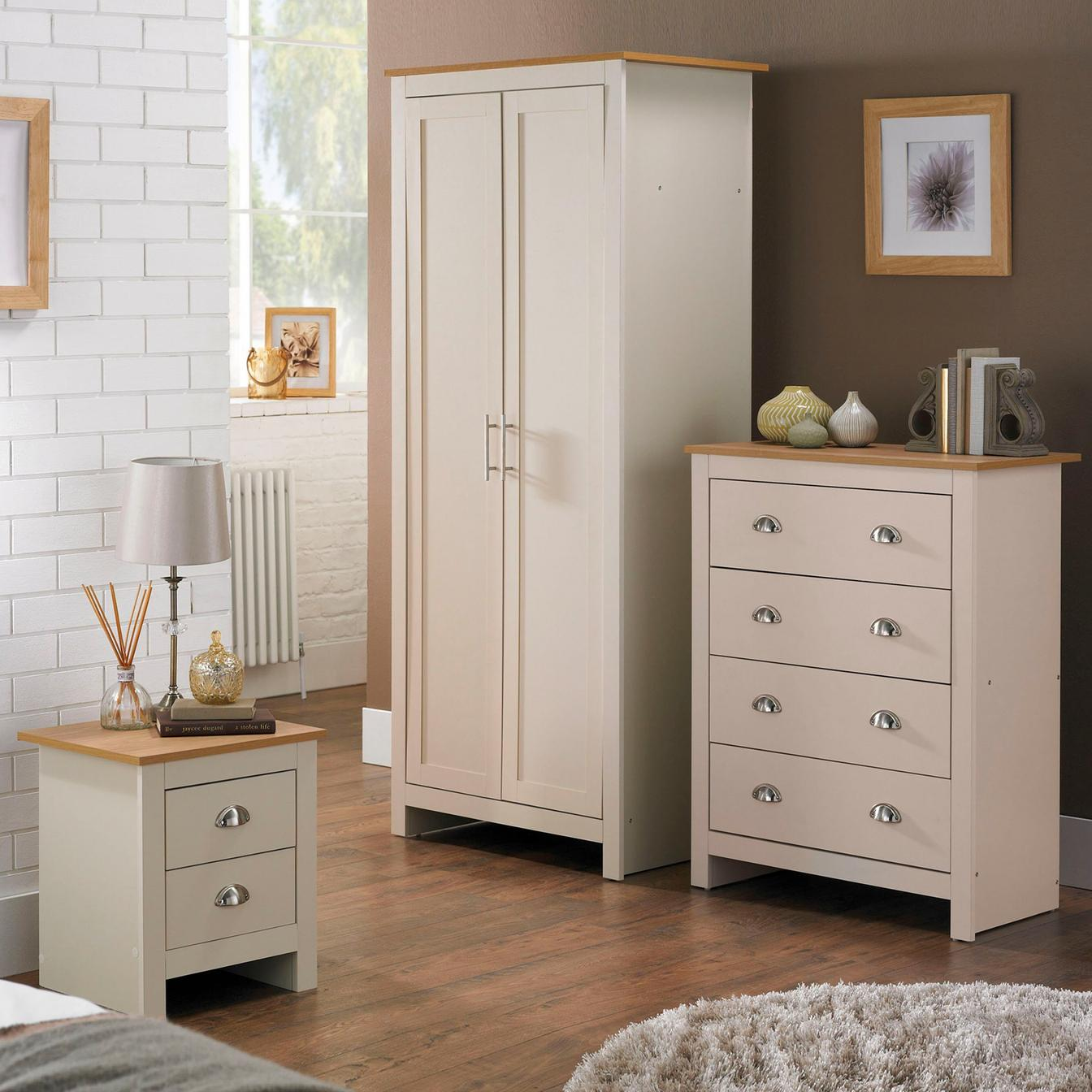 details about 3 piece lancaster bedroom set in cream or grey