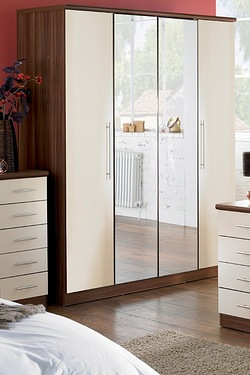 Melbourne 4 Door Mirrored Wardrobe