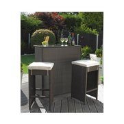 Valencia 3-Piece Rattan-Effect Bar Set