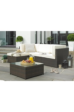 Rattan-Effect Corner Lounge Set
