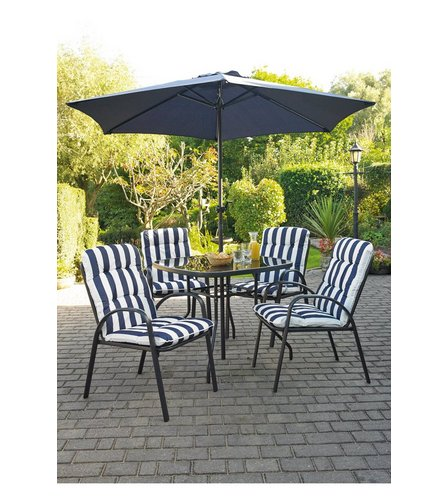 Image For Barcelona 6 Piece Padded Chair Patio Set From Studio
