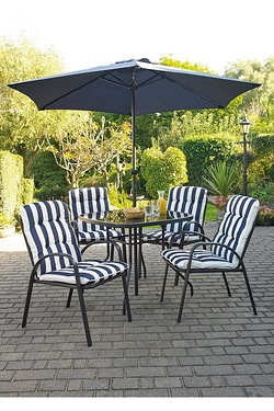 Barcelona 6-Piece Padded Chair Patio Set