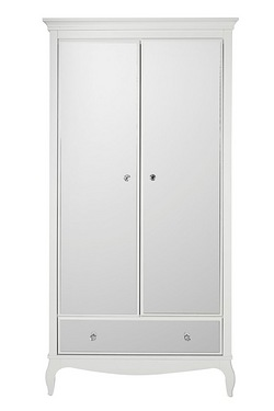Amelie Mirrored Wardrobe With Drawer