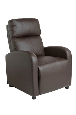 Faux Leather Recliner Chair With Ma...