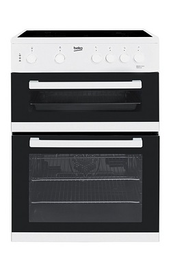 Beko 60cm Electric Double Oven Cooker
