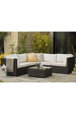 Oxford Rattan Corner Sofa Lounge Set