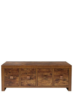 Mango Wood-Effect Coffee Table Trunk