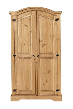 Mexican Pine 2 Door Wardrobe