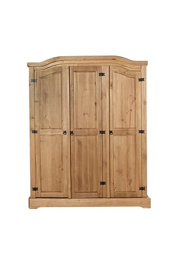 Mexican Pine 3 Door Wardrobe