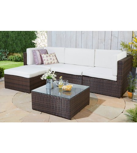 Rattan lounge set  Kensington Rattan-Effect Corner Lounge Set | Studio