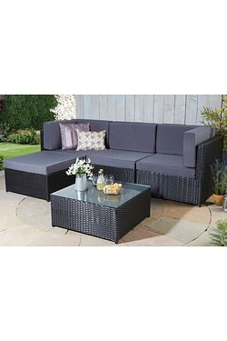 Kensington Rattan-Effect Corner Lounge Set