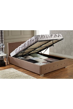 Nicole Ottoman Fabric Bed With Matt...