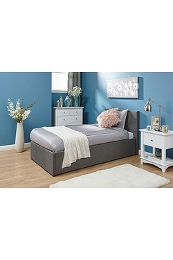 End Lift Fabric Bed With Mattress