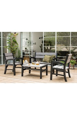 Keter Montero 4-Piece Wood-Effect Lounge Set