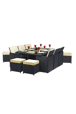 Royalcraft Cannes Ebony 10 Seater Cube Set