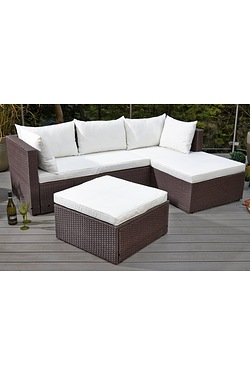 York Rattan-Effect Corner Lounge Set