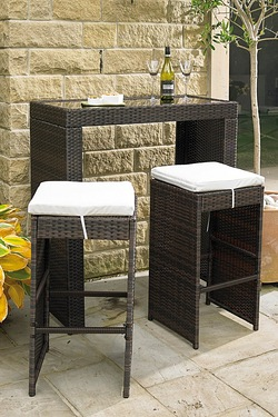 Milan Rattan-Effect Bar Set