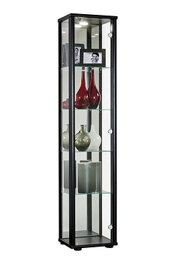 Jupiter 1 Door Glass Cabinet with LED Light and Lock