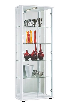 Jupiter 2 Door Glass Cabinet with LED Light and Lock