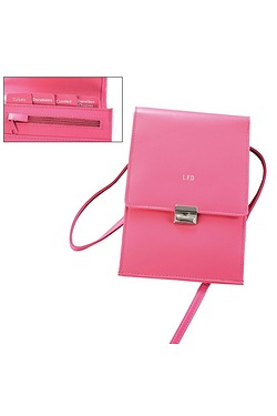 Personalised Pink Travel Organiser