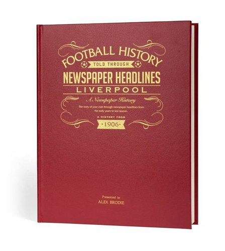 Image for Personalised Luxury Leather Football Club Book from ace