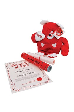 Personalised Love Monster with Scroll