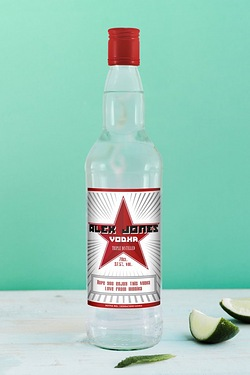 Personalised Vodka, Classic Star Label
