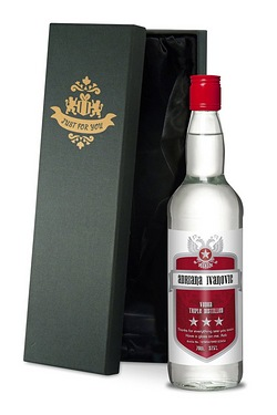Personalised Vodka, Red Shield Labe...