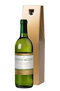 Personalised White Wine, Gold Label