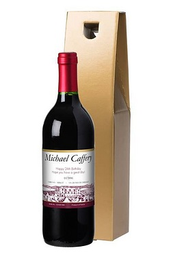 Personalised Red Wine, Vineyard Label