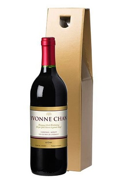 Personalised Red Wine, Gold Label