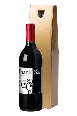 Personalised Red Wine, Swirls Thank...