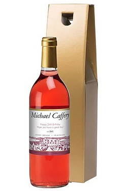 Personalised Rose Wine, Vineyard Label