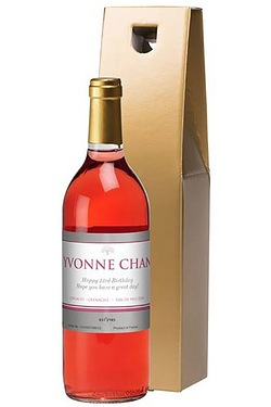 Personalised Rose Wine, Silver Label