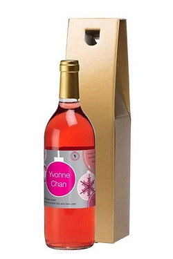 Personalised Rose Wine, Christmas L...