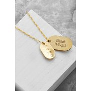 Personalised Gents' Gold Dog Tags