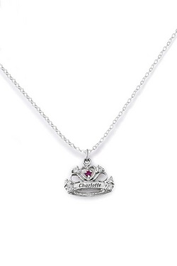 Personalised -  Silver Crown With D...